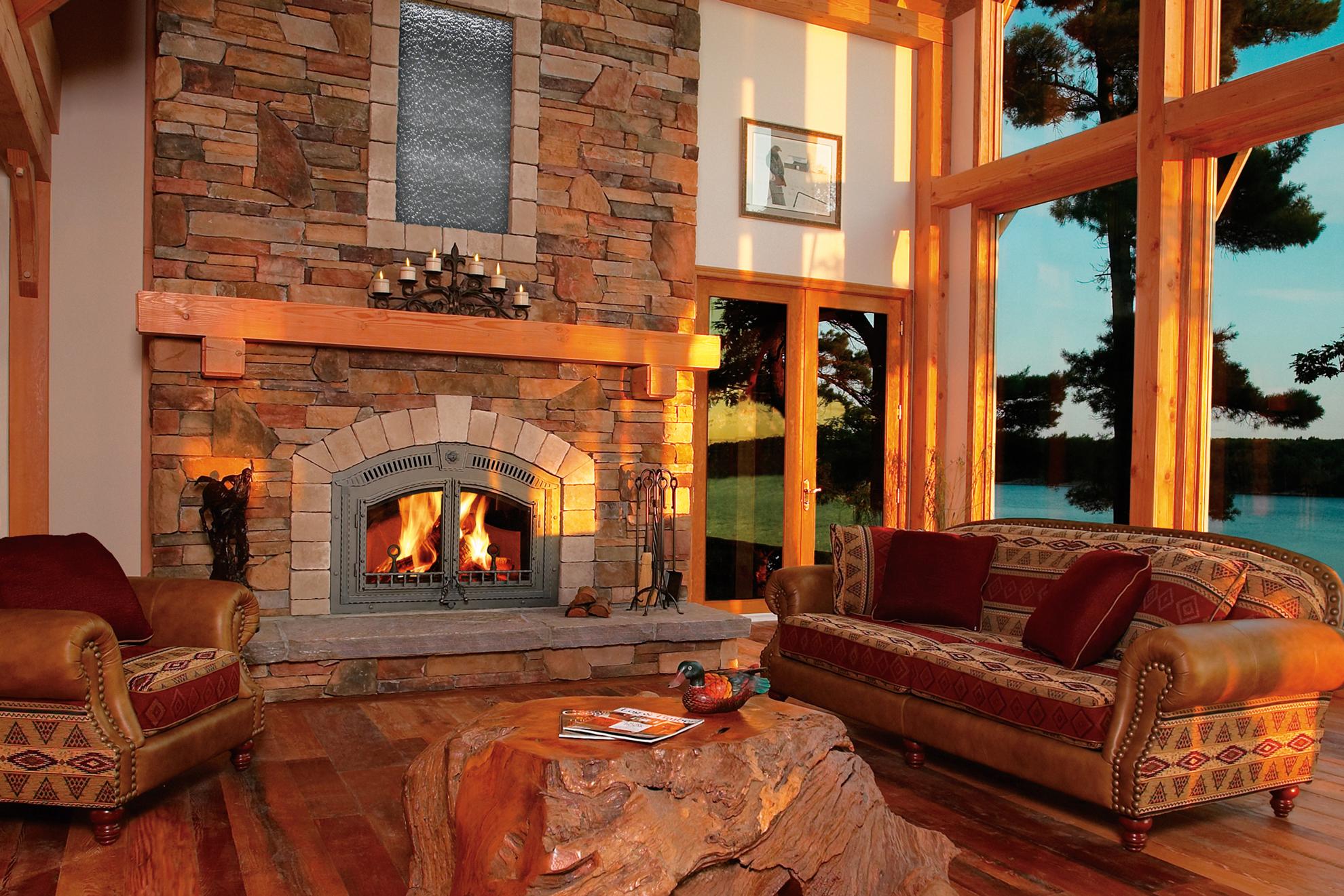 Foyers au bois alternatives for Wood stove insert for prefab fireplace